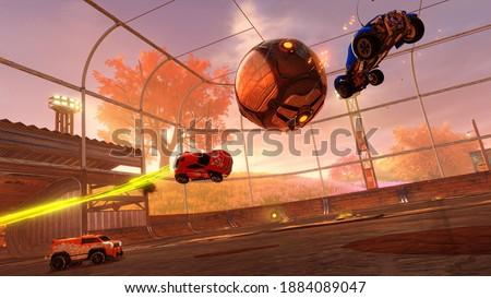 Rocket League Football Gaming Art Royalty-Free Stock Photo #1884089047