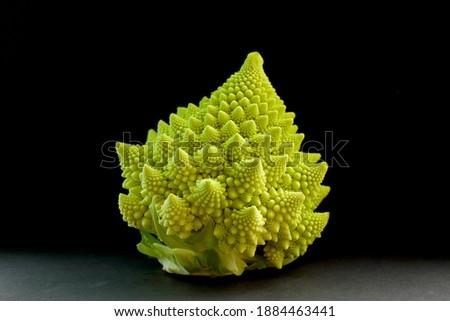 Beautiful Fractals in Romanesco Cauliflowers Royalty-Free Stock Photo #1884463441