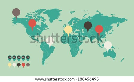 Map of the World #188456495