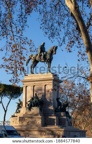 equestrian monument dedicated to Giuseppe Garibaldi Royalty-Free Stock Photo #1884577840