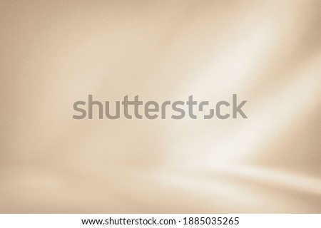 White Stucco Room with Light Beam Background, Suitable for Product Presentation Backdrop, Display, and Mock up. Royalty-Free Stock Photo #1885035265