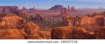 View from Hunt's Mesa, Monument Valley  #188507558