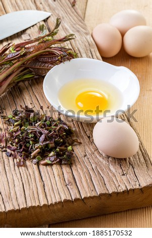 chinese toon egg asian food Royalty-Free Stock Photo #1885170532