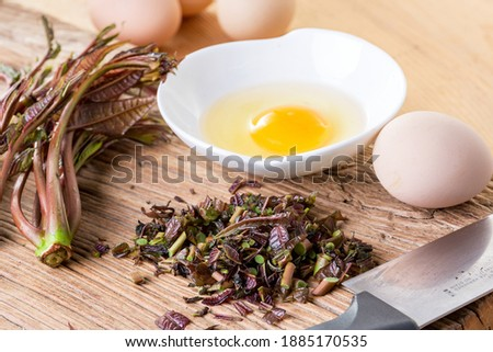 chinese toon egg asian food Royalty-Free Stock Photo #1885170535