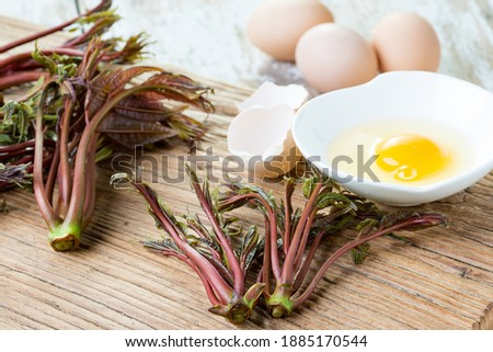 chinese toon egg asian food Royalty-Free Stock Photo #1885170544