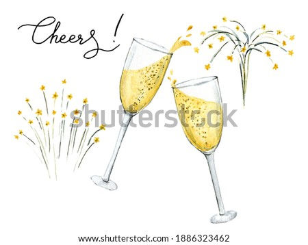 Congratulations hand drawn clip art