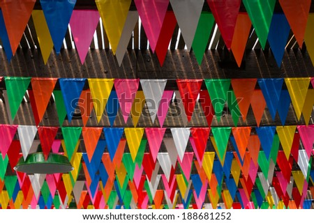 Triangle patty flag is colorful for happy day. #188681252