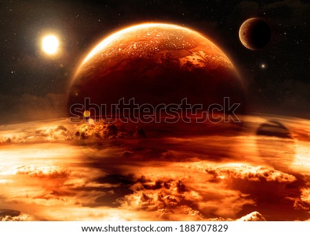 Red Alien World - Elements of this image furnished by NASA