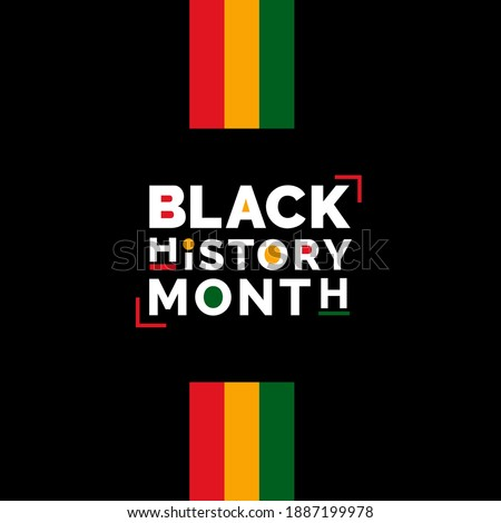 Black history month African American history celebration vector illustration Royalty-Free Stock Photo #1887199978