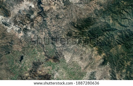 Satellite top view texture over Mexico Royalty-Free Stock Photo #1887280636
