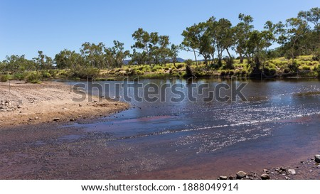 Australia, Crossing the Finke River in a Ford Royalty-Free Stock Photo #1888049914