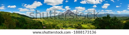 Landscape Panorama picture from Volcano Arenal next to the rainforest, Costa Rica