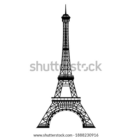 Eiffel tower. Emblem of Paris, capital city of France. Europe.