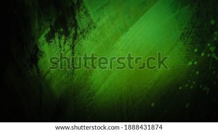 Wall texture in paint in green tones, wallpaper design, abstract background color, scratches on the wall.