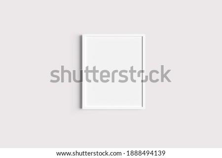 Set of white portrait picture frame mockups