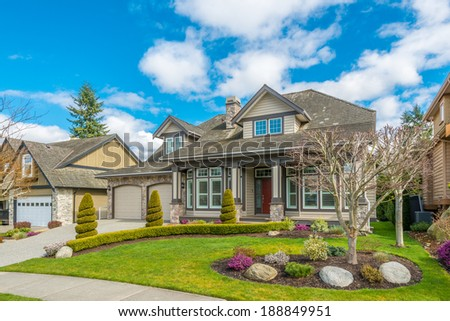 Luxury house at sunny day in Vancouver, Canada. #188849951