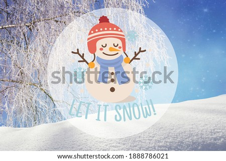 let it snow poster or banner