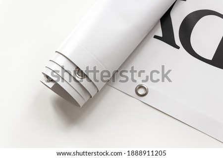 Large format print with hem Royalty-Free Stock Photo #1888911205