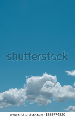Tranquil cyan blue sky background. Minimal picture of vivid skyline