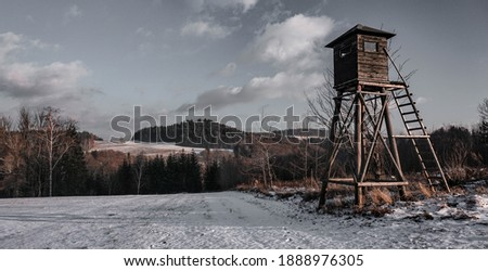 Hunter's view over the czech landscape Royalty-Free Stock Photo #1888976305