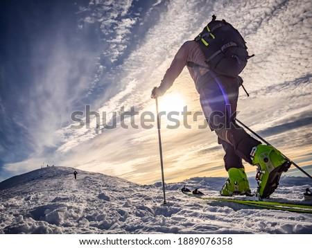 Ski mountaineering in the italian alps Royalty-Free Stock Photo #1889076358