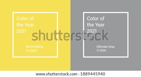 Ultimate Gray and Illuminating, Color of the Year 2021 Royalty-Free Stock Photo #1889445940