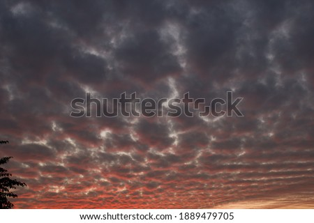 picture of dark pink blue clouds in evening. himachal pradesh india.