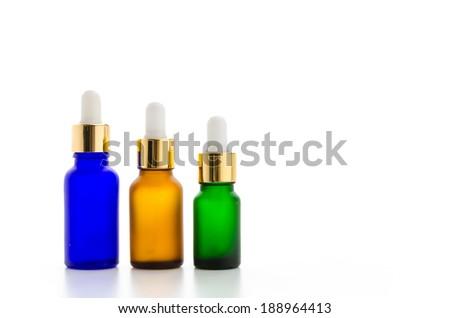Cosmetics bottles isolated on white #188964413