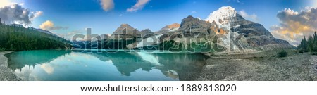 Summertime at Mt. Robson UNESCO World Heritage Site Royalty-Free Stock Photo #1889813020