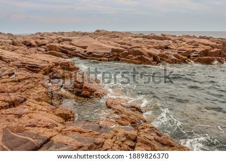 Rocky coastline from Nova Scotia Royalty-Free Stock Photo #1889826370