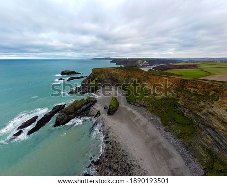 Portreath to bassets cove coastline in cornwall England uk. Western Cove