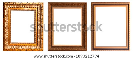 Frames picture baguettes isolated on white background set.