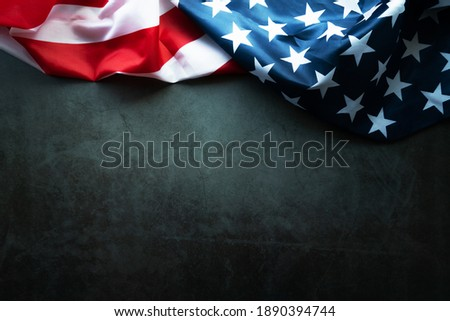 Martin Luther King Day Anniversary - American flag on abstract background Royalty-Free Stock Photo #1890394744