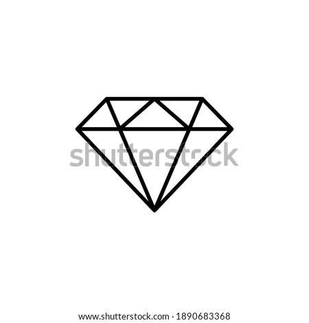 Diamond icon vector. diamond gems vector icon.