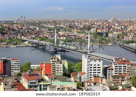 Top View Crowded city of istanbul #189082019