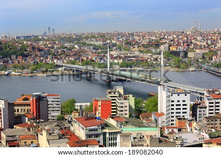 Top View Crowded city of istanbul #189082040