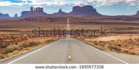 Scenic views of Monument Valley. Royalty-Free Stock Photo #1890977338