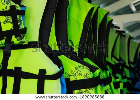 Life jacket use for snorkeling.Thailand. #1890985888