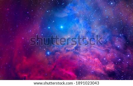Bursting Nebula - Elements of this Image Furnished by NASA Royalty-Free Stock Photo #1891023043