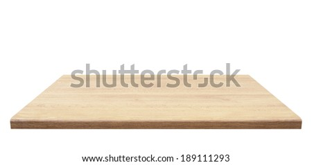 Wooden table top, isolated #189111293