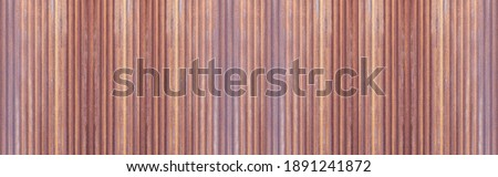 Panorama of Rusty old galvanized fence texture and seamless background Royalty-Free Stock Photo #1891241872