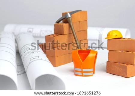 construction build - construction site miniature concept Royalty-Free Stock Photo #1891651276