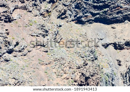 Dry Lava Basaltic Rock Stone Texture Background Royalty-Free Stock Photo #1891943413