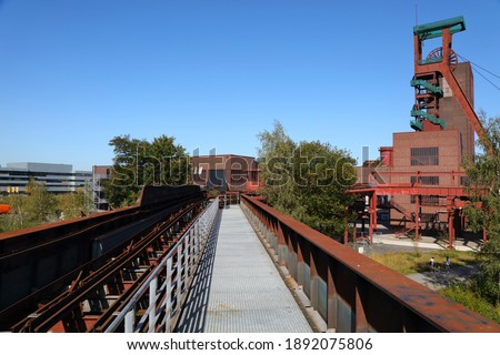 Essen, Germany. Industrial heritage of Ruhr region. Zollverein, a UNESCO World Heritage Site. Royalty-Free Stock Photo #1892075806