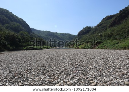 White Rokcs at the Middle of a Dry River #1892171884
