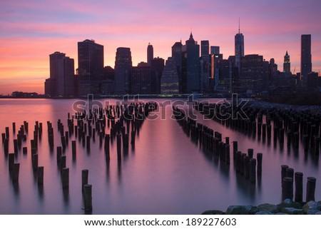 Lower Manhattan Beautiful Skyline at night, New York