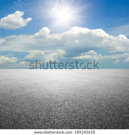 close-up horizontal view of new asphalt road #189242618