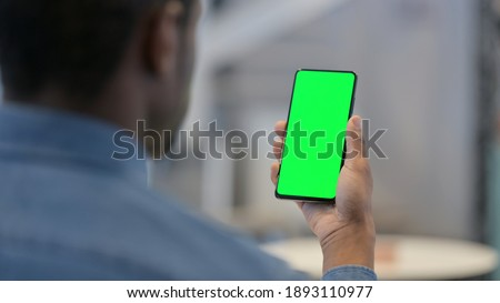 Smartphone with Green Chroma Key Screen