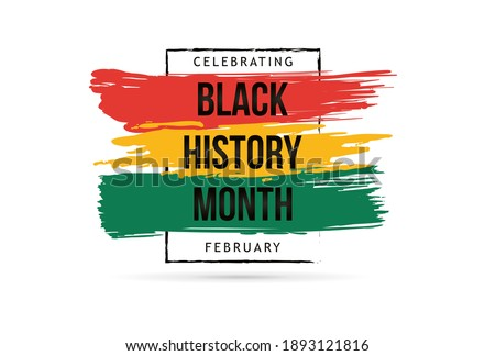 Black history month celebrate. vector illustration design graphic Black history month Royalty-Free Stock Photo #1893121816