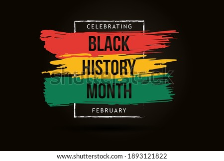 Black history month celebrate. vector illustration design graphic Black history month Royalty-Free Stock Photo #1893121822